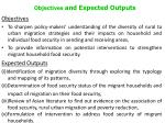 objectives and expected outputs