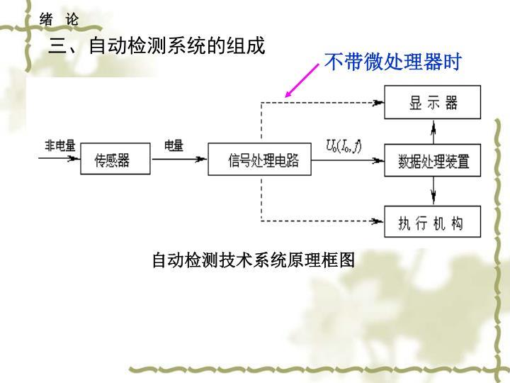 三、自动检测系统的组成