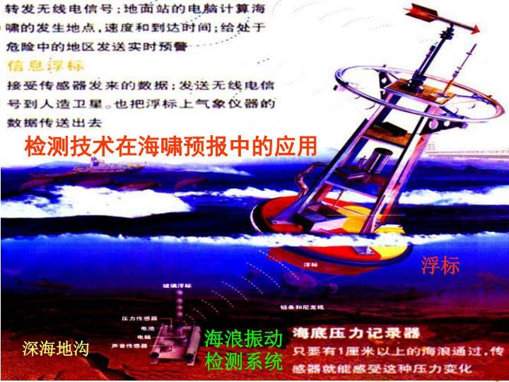 检测技术在海啸预报中的应用