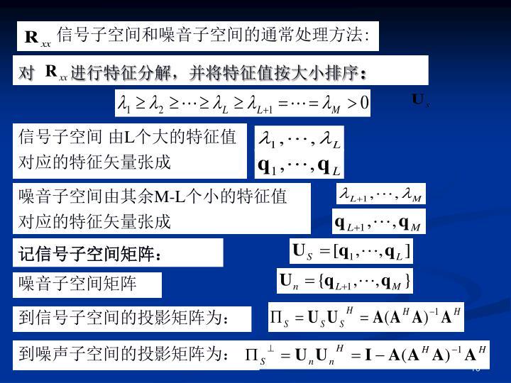 记信号子空间矩阵:
