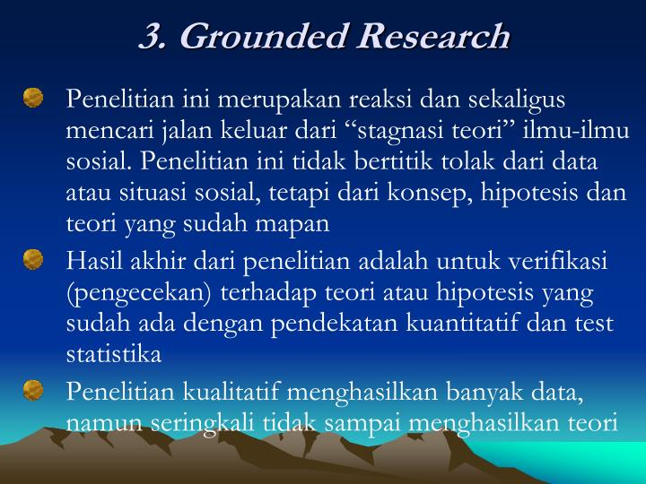 3. Grounded Research