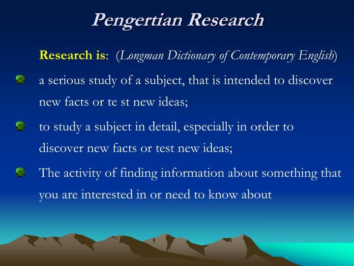Pengertian Research