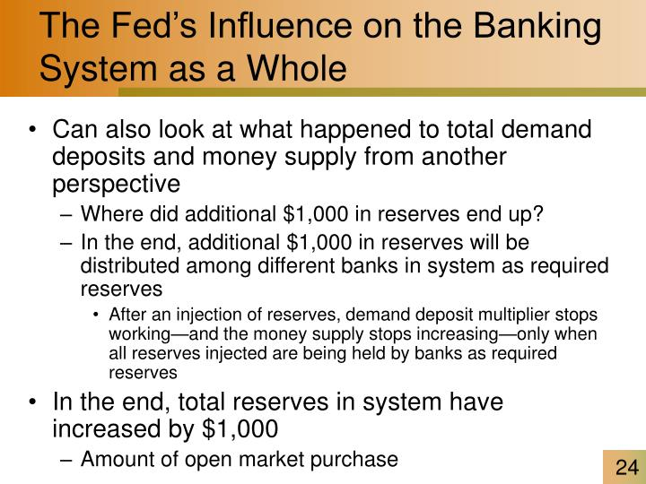 The Fed's Influence on the Banking System as a Whole