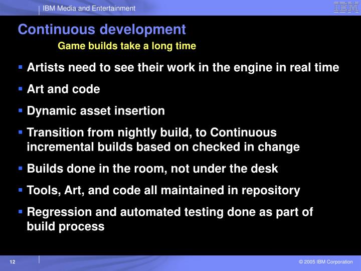 Continuous development
