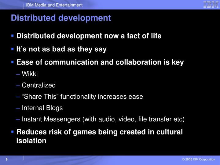 Distributed development