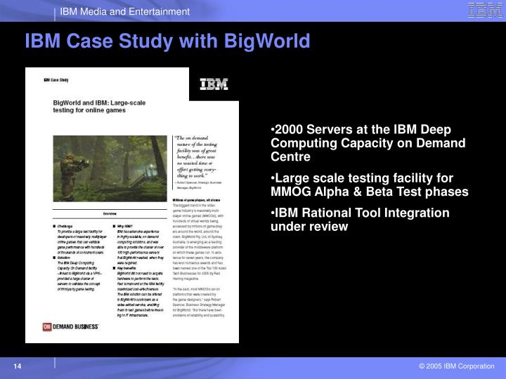 IBM Case Study with BigWorld