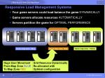 responsive load management systems