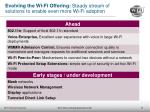 evolving the wi fi offering steady stream of solutions to enable even more wi fi adoption