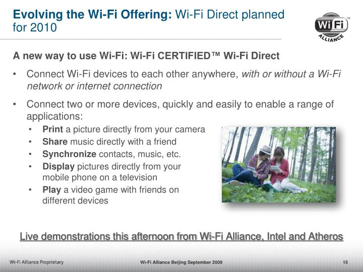 Evolving the Wi-Fi Offering: