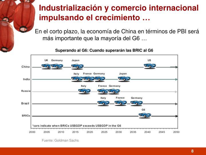 Industrialización y comercio internacional impulsando el crecimiento …