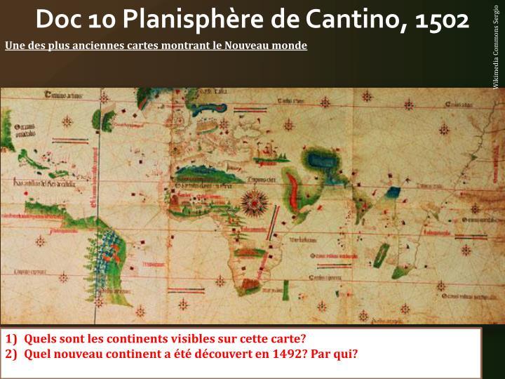 Doc 10 Planisphère de