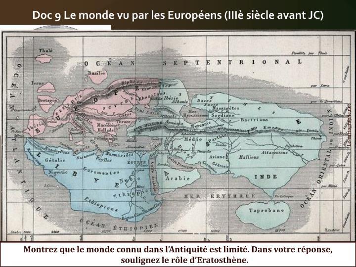 Doc 9 Le monde vu par les Européens (IIIè siècle avant JC)