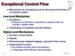 exceptional control flow1
