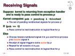 receiving signals