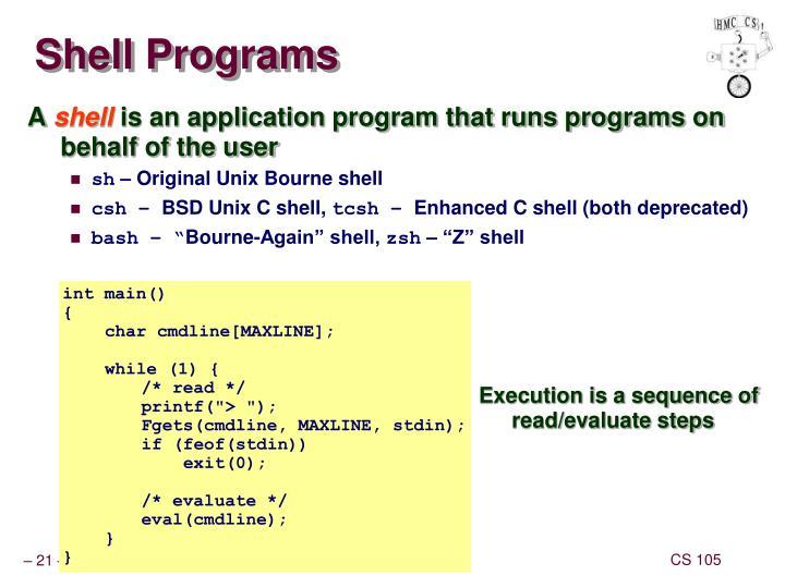 Shell Programs