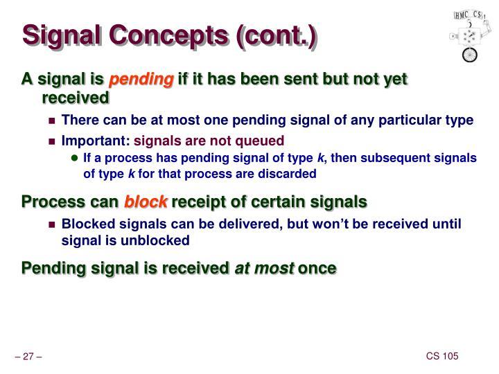 Signal Concepts (cont.)