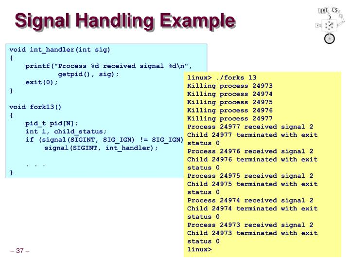 Signal Handling Example