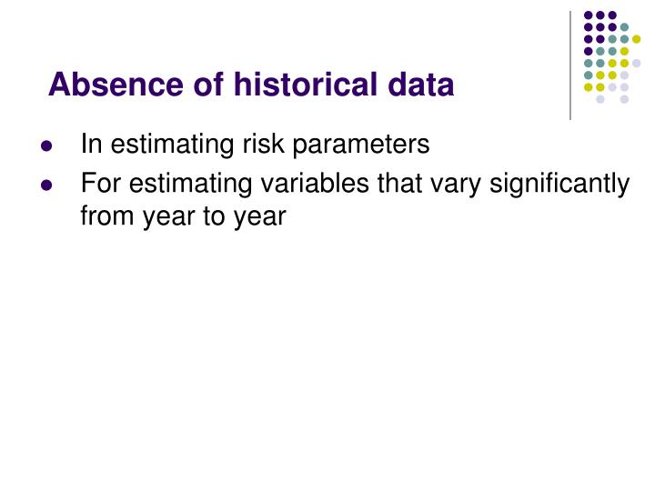 Absence of historical data