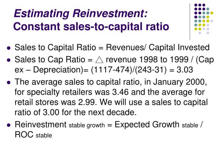 Estimating Reinvestment: