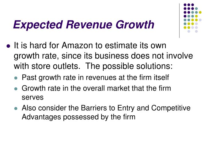 Expected Revenue Growth