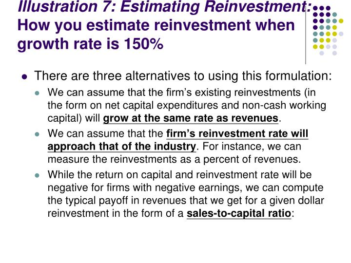 Illustration 7: Estimating Reinvestment: