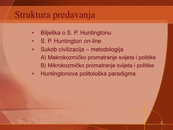 Struktura predavanja