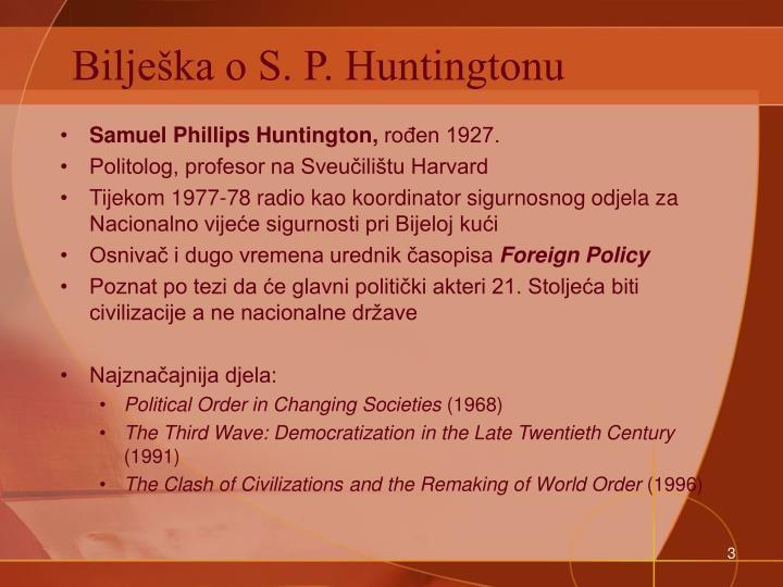 Bilješka o S. P. Huntingtonu