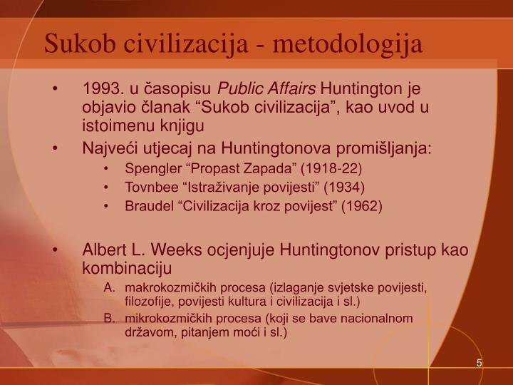 Sukob civilizacija - metodologija