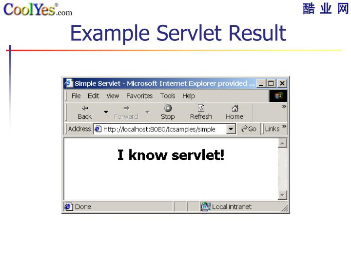 Example Servlet Result