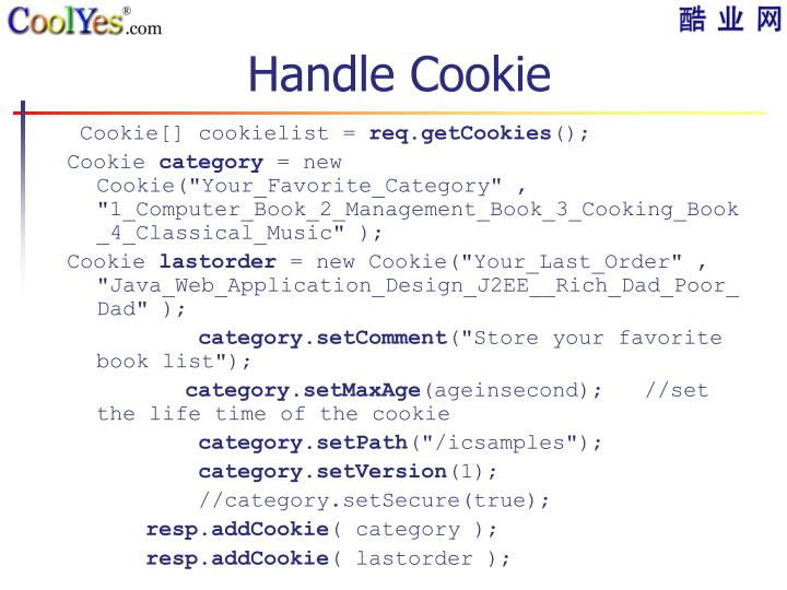 Handle Cookie