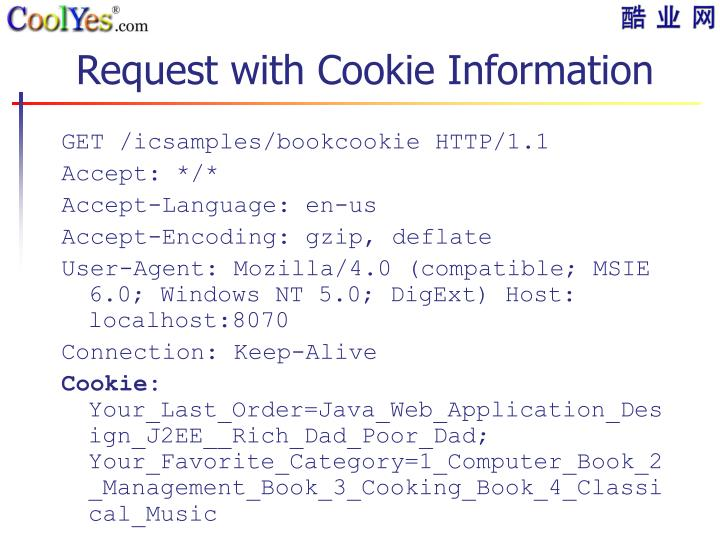 Request with Cookie Information
