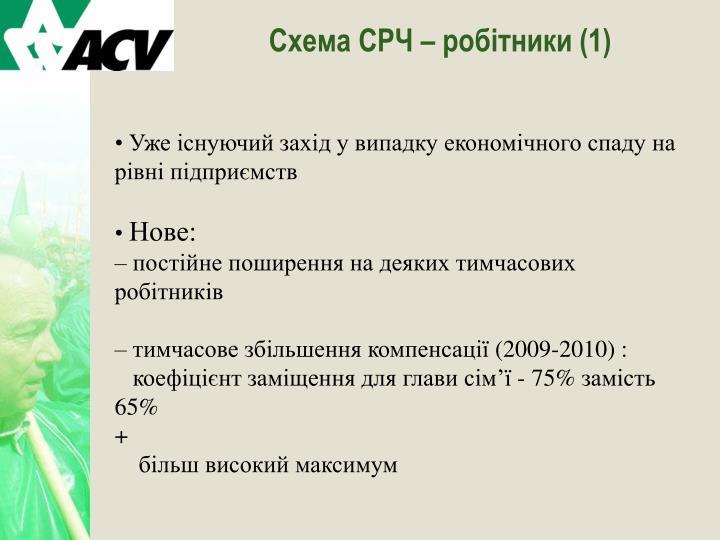 Схема СРЧ – робітники (1)