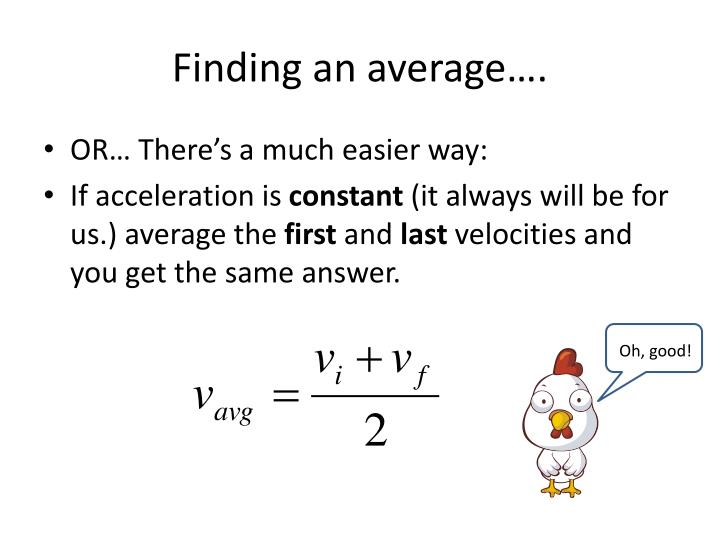 Finding an average….