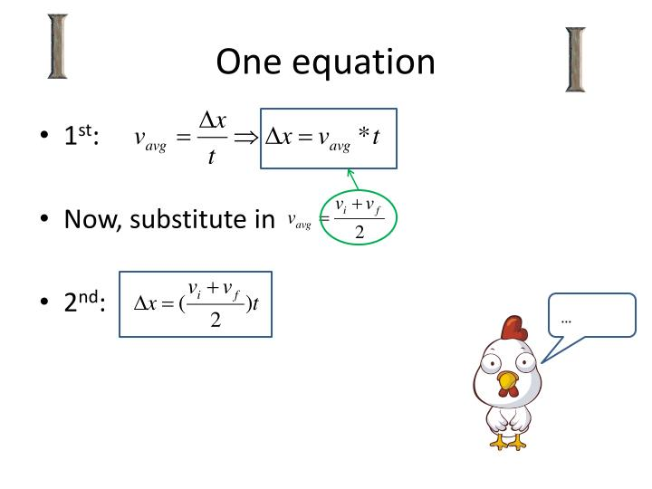 One equation