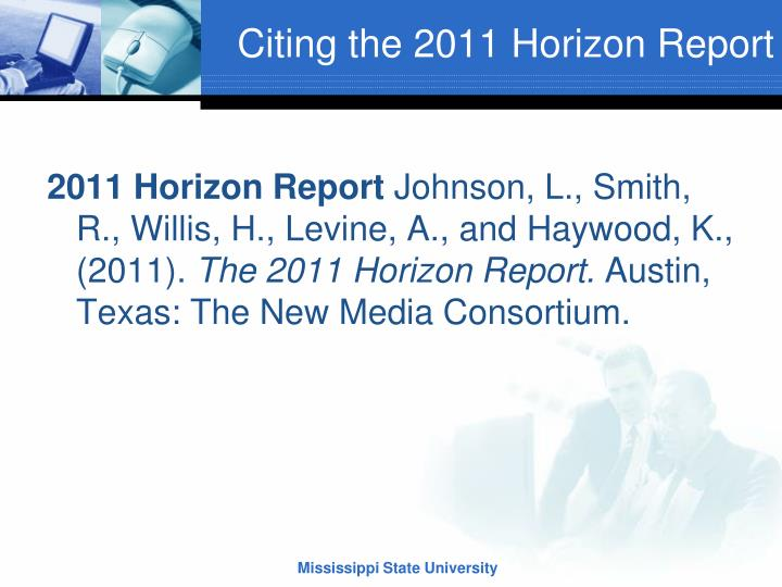 Citing the 2011 Horizon Report