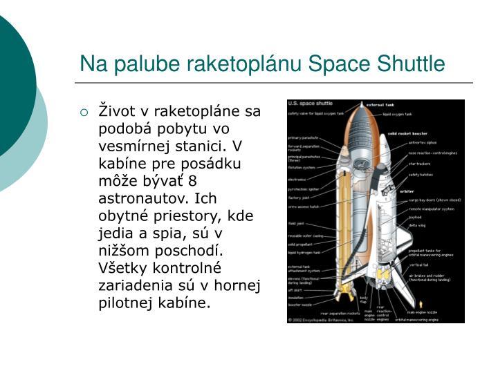 Na palube raketoplánu Space Shuttle