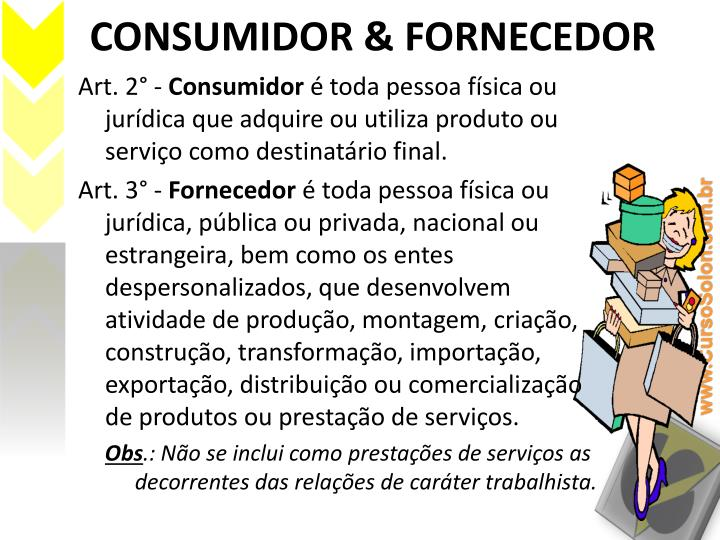 CONSUMIDOR & FORNECEDOR