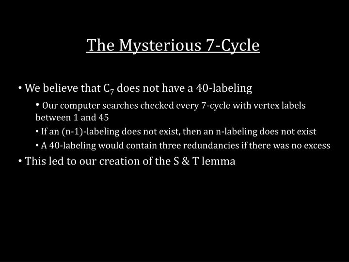 The Mysterious 7-Cycle