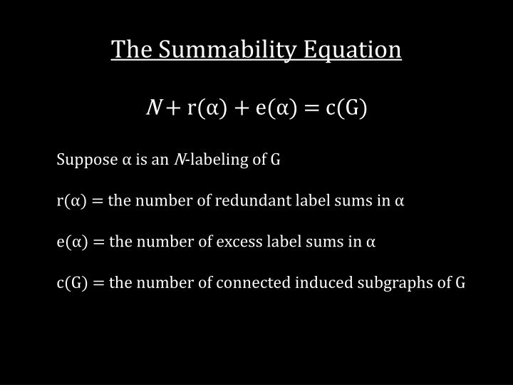 The Summability Equation