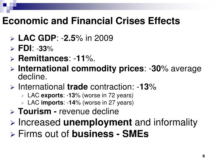 Economic and Financial Crises Effects