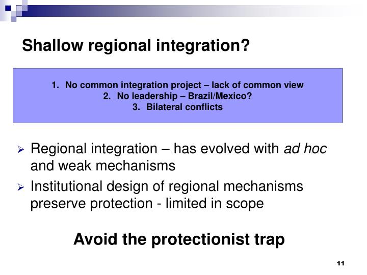 Regional integration – has evolved with