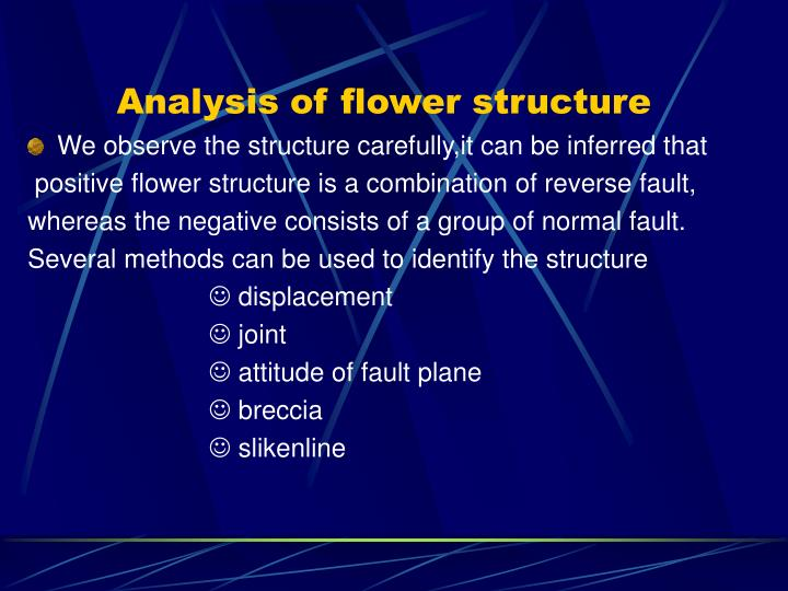 Analysis of flower structure