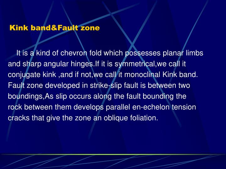 Kink band&Fault zone