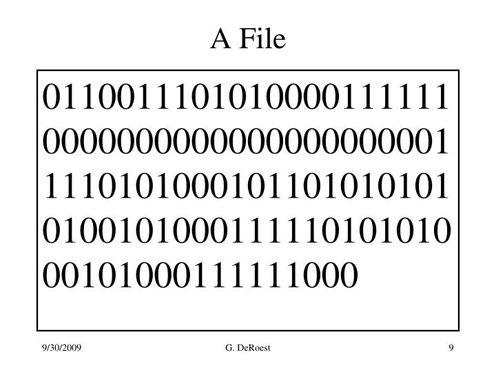 A File