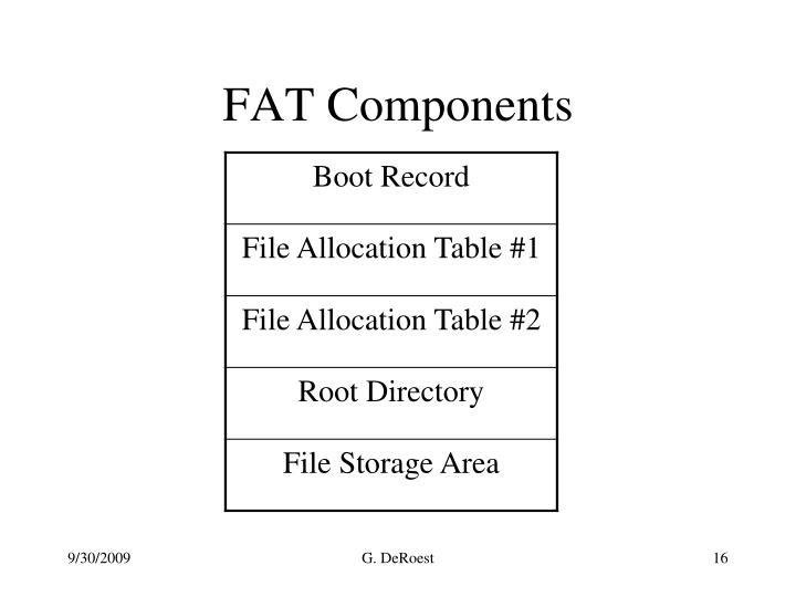 FAT Components
