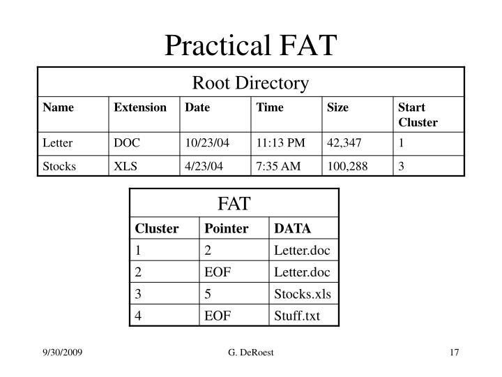 Practical FAT