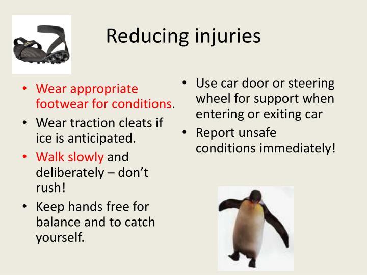 Reducing injuries