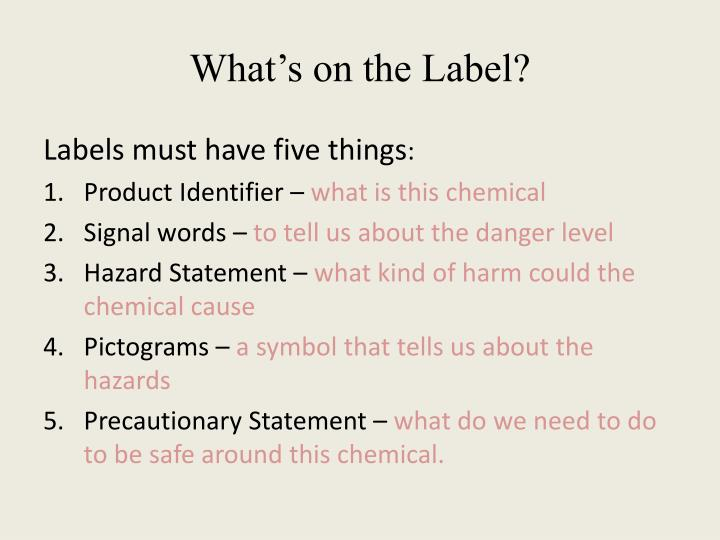 What's on the Label?