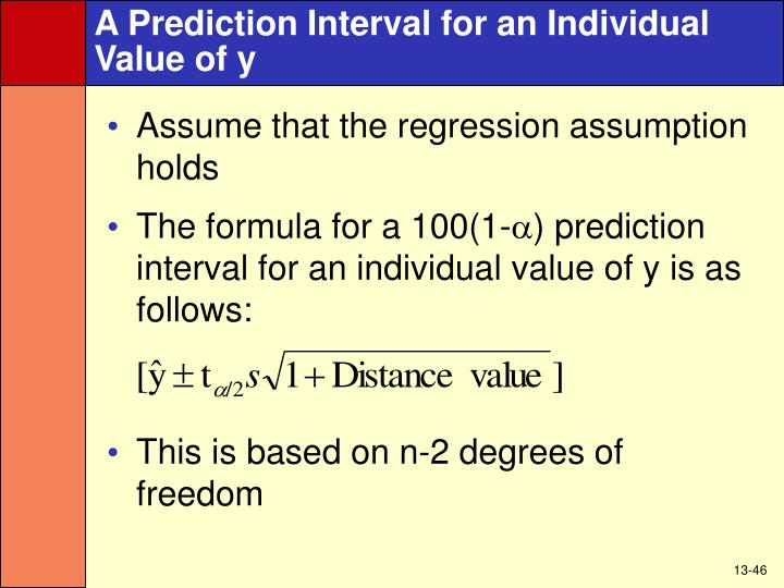 A Prediction Interval for an Individual