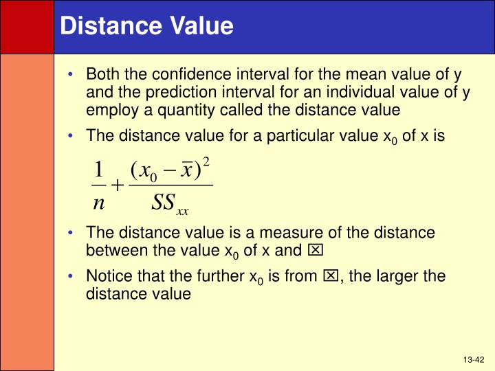Distance Value